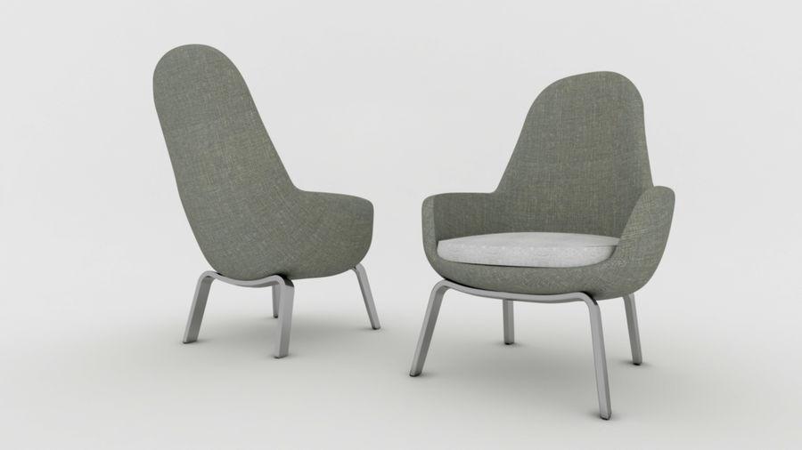 Krzesło Sofa royalty-free 3d model - Preview no. 5