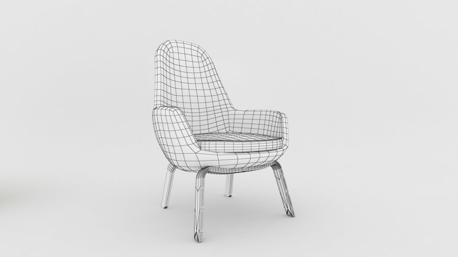 Sofa Chair royalty-free 3d model - Preview no. 7