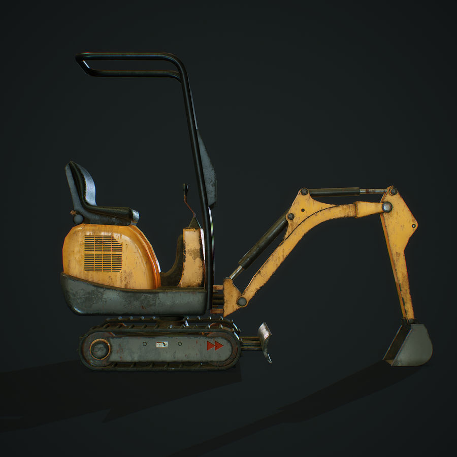 Low Poly Excavator royalty-free 3d model - Preview no. 4