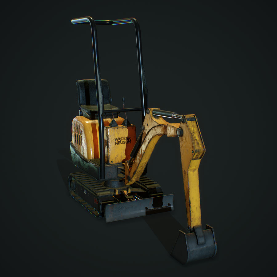 Low Poly Excavator royalty-free 3d model - Preview no. 5