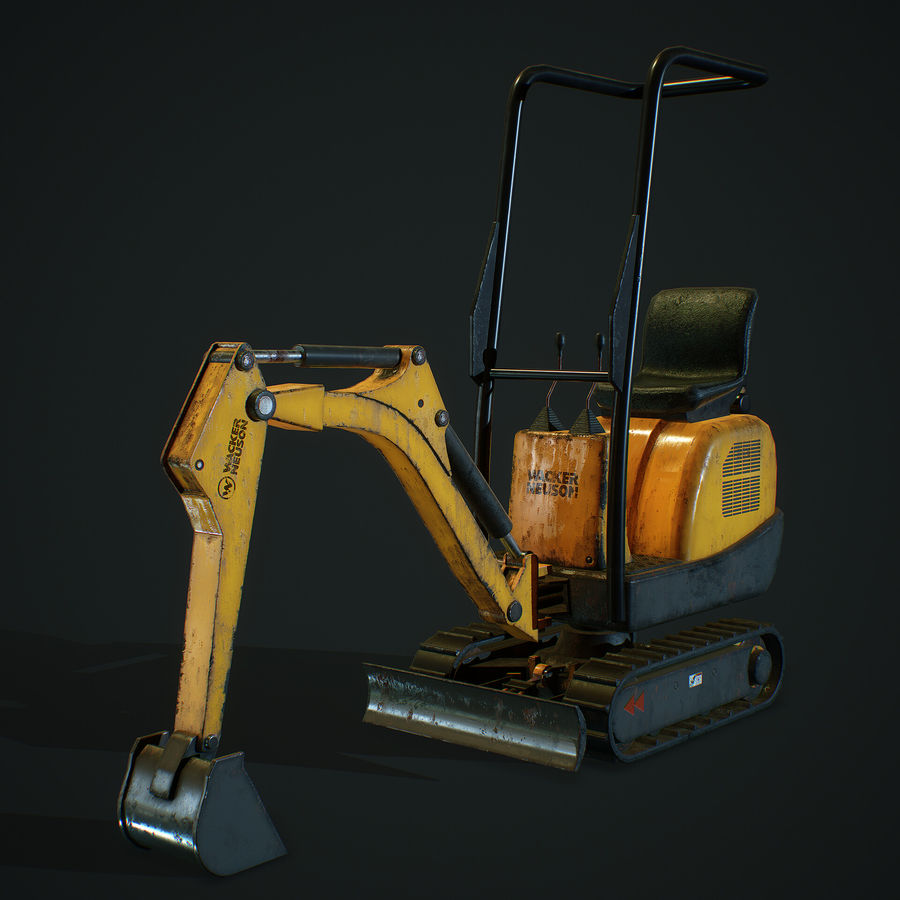 Low Poly Excavator royalty-free 3d model - Preview no. 1