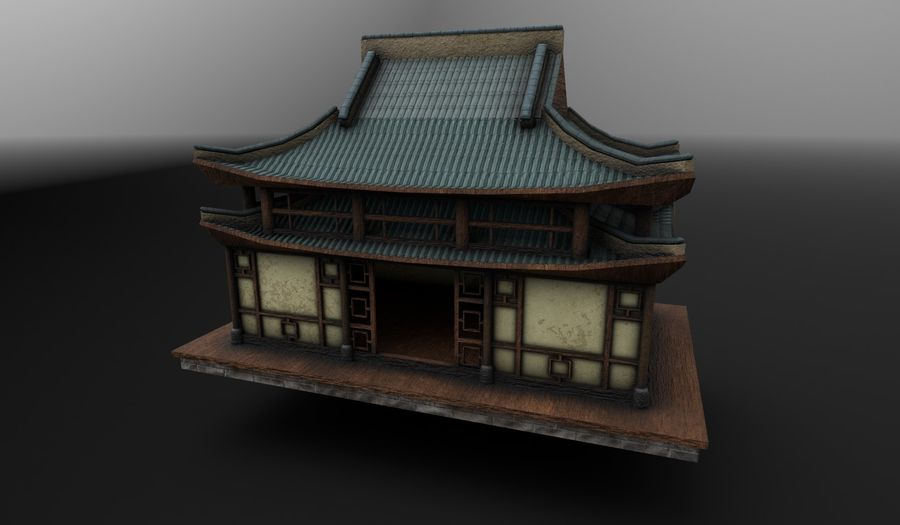 Asian House royalty-free 3d model - Preview no. 1