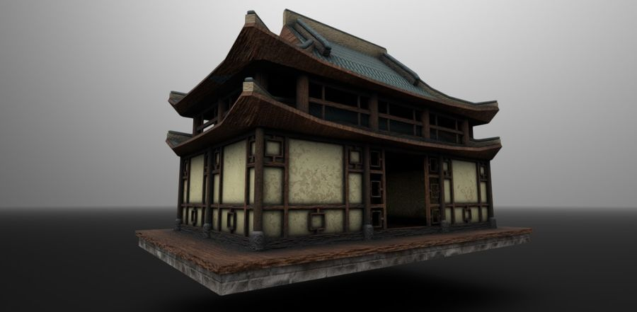 Asian House royalty-free 3d model - Preview no. 4