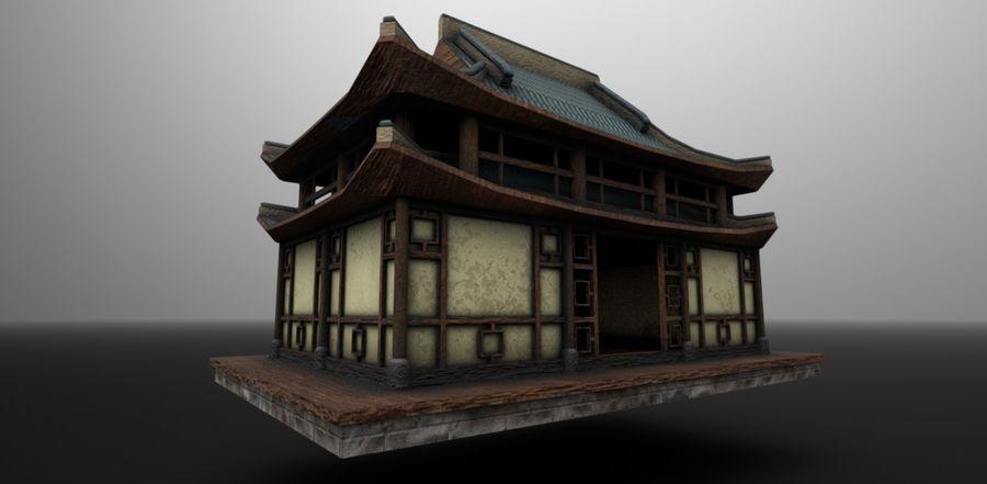 Dom azjatycki royalty-free 3d model - Preview no. 4