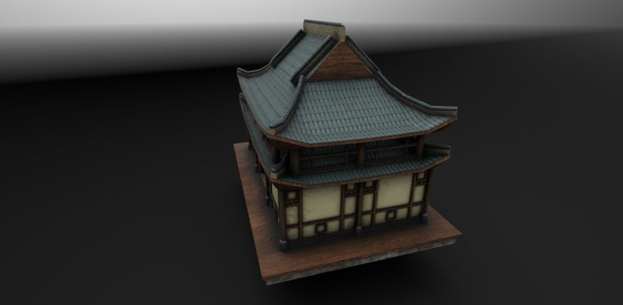 Asian House royalty-free 3d model - Preview no. 2