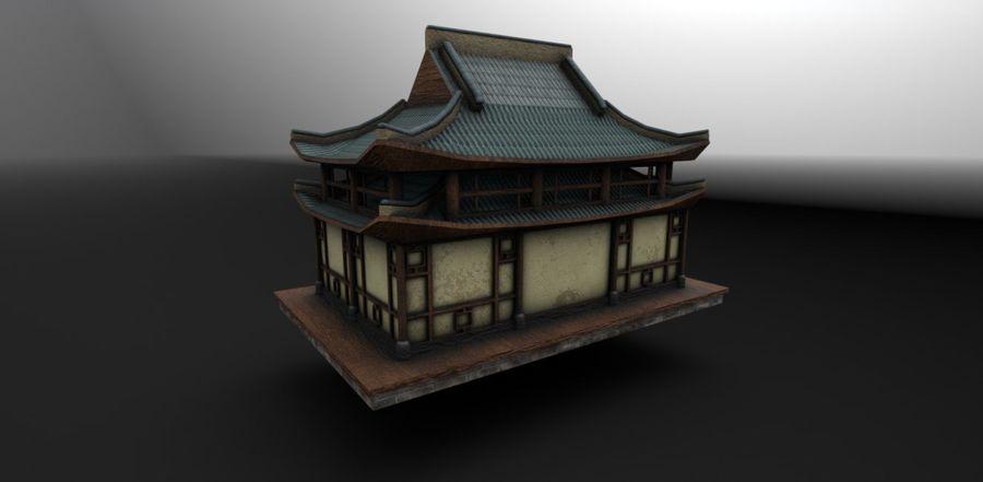 アジアンハウス royalty-free 3d model - Preview no. 3