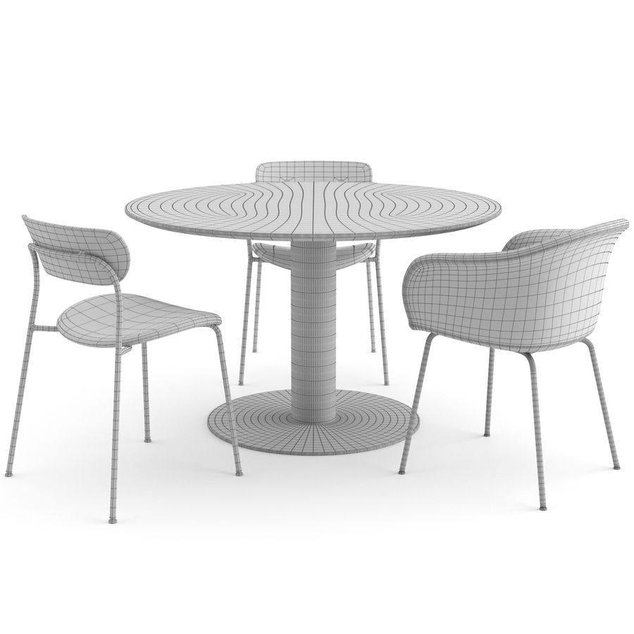 Dinning Set von & TRADITION royalty-free 3d model - Preview no. 6
