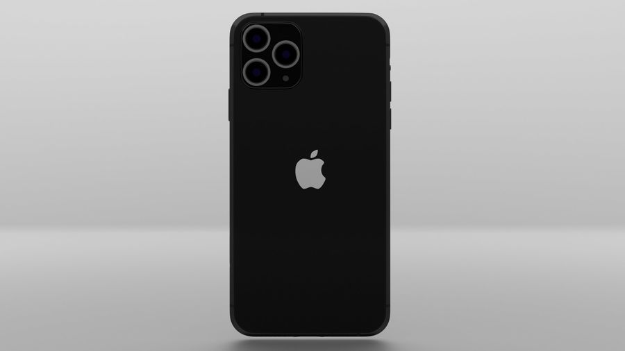 iPhone 11 Pro Max royalty-free 3d model - Preview no. 4