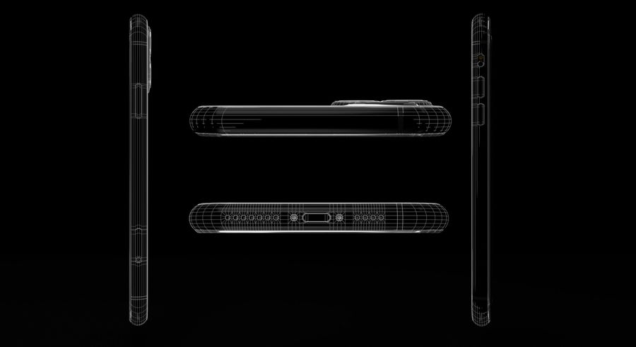 iPhone 11 Pro Max royalty-free 3d model - Preview no. 3