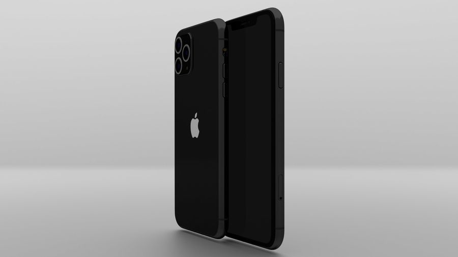 iPhone 11 Pro Max royalty-free 3d model - Preview no. 9