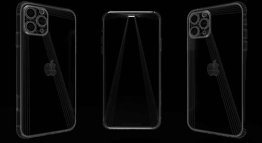 iPhone 11 Pro Max royalty-free 3d model - Preview no. 2