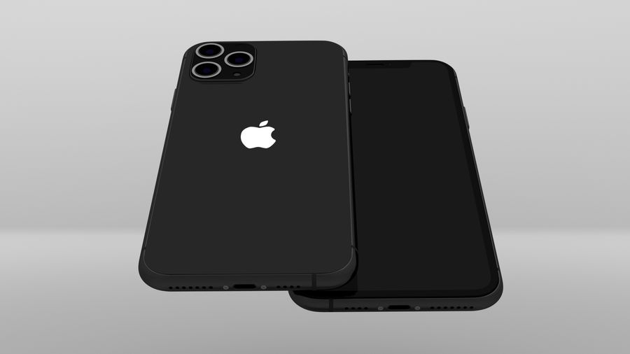 iPhone 11 Pro Max royalty-free 3d model - Preview no. 10