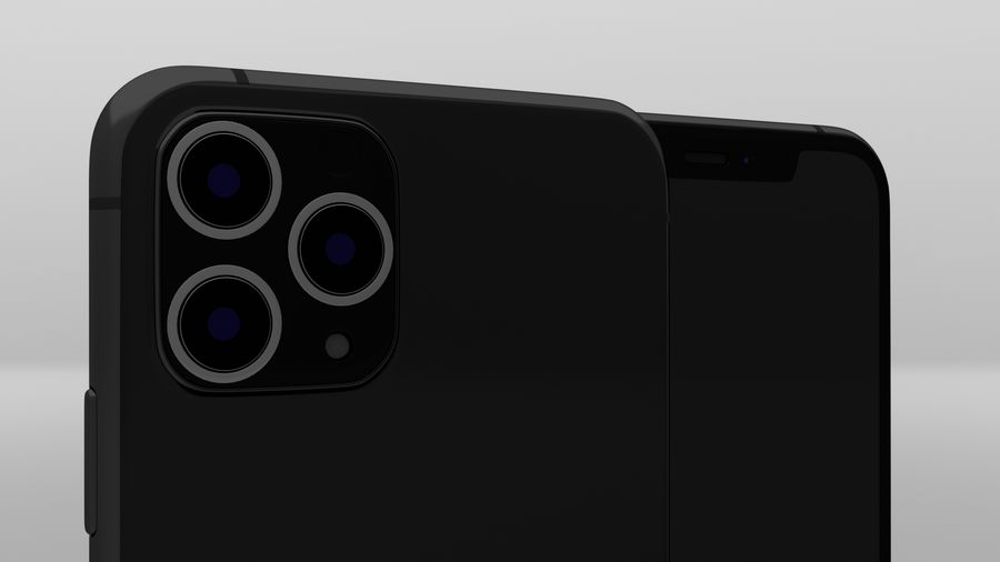 iPhone 11 Pro Max royalty-free 3d model - Preview no. 11