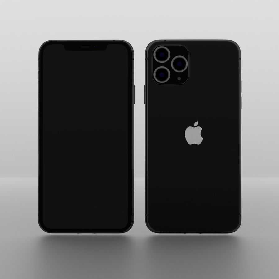 iPhone 11 Pro Max royalty-free 3d model - Preview no. 1