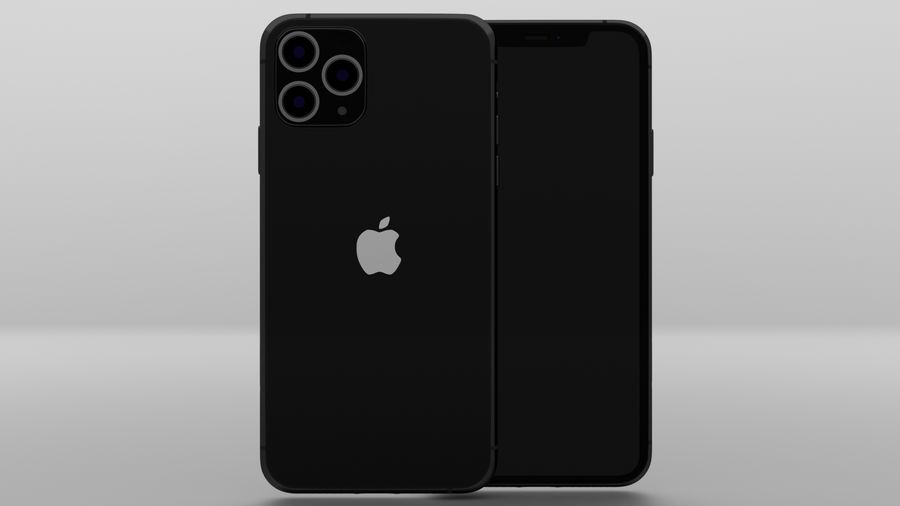 iPhone 11 Pro Max royalty-free 3d model - Preview no. 8