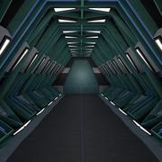 Tunnel de science-fiction 3d model