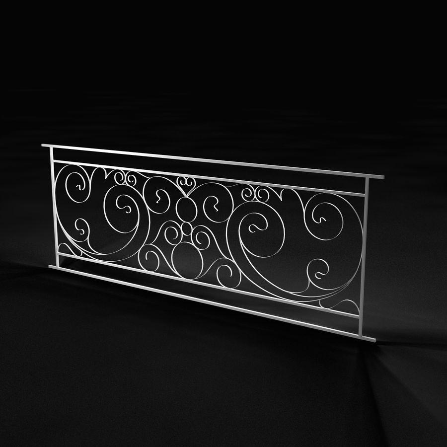 Dekoracyjny płot na werandę royalty-free 3d model - Preview no. 1