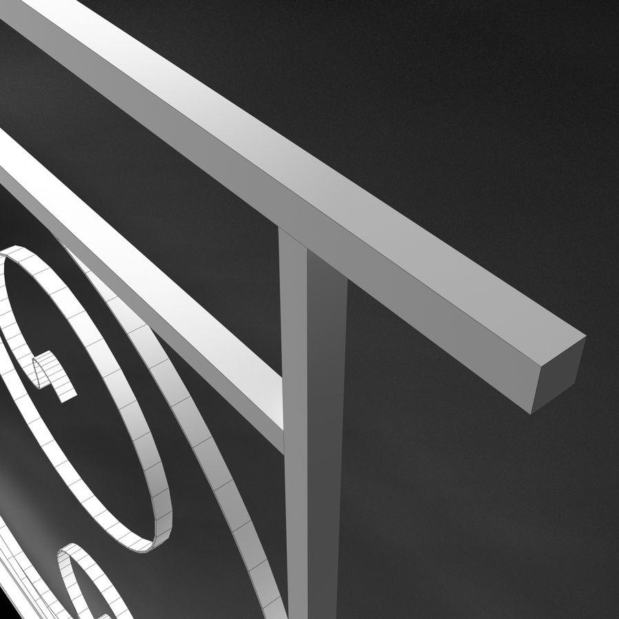 Dekoracyjny płot na werandę royalty-free 3d model - Preview no. 5