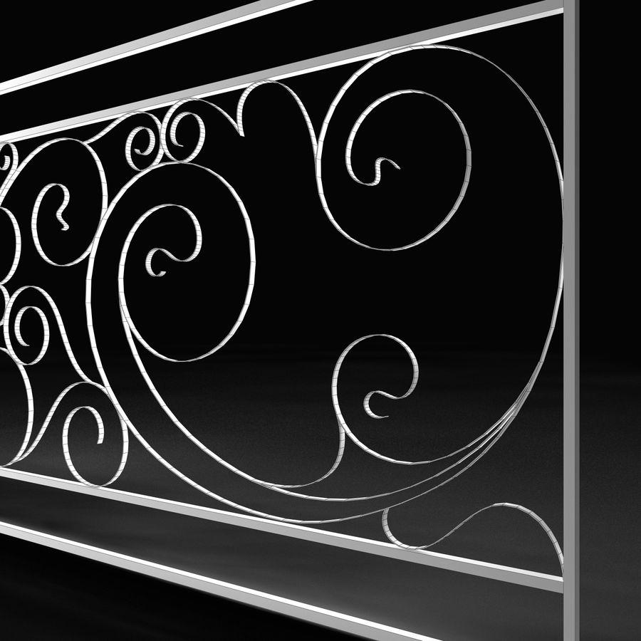 Dekoracyjny płot na werandę royalty-free 3d model - Preview no. 3