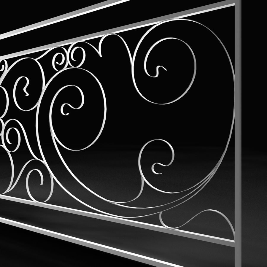 Dekoracyjny płot na werandę royalty-free 3d model - Preview no. 2