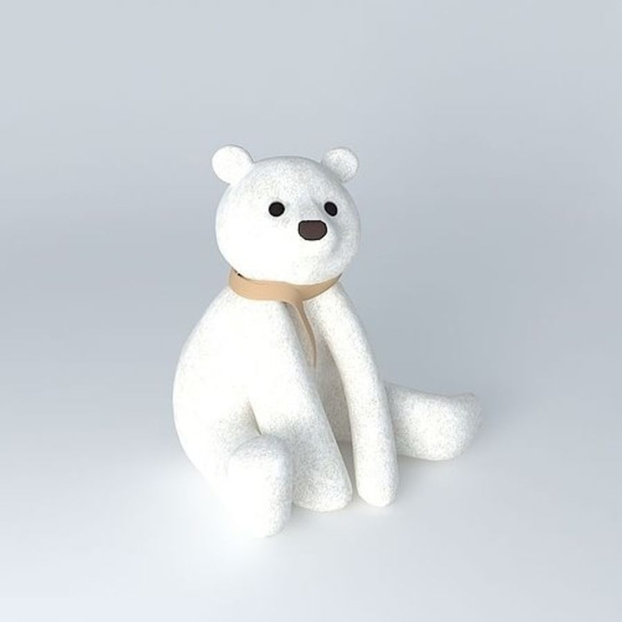Knut polar bear royalty-free 3d model - Preview no. 1