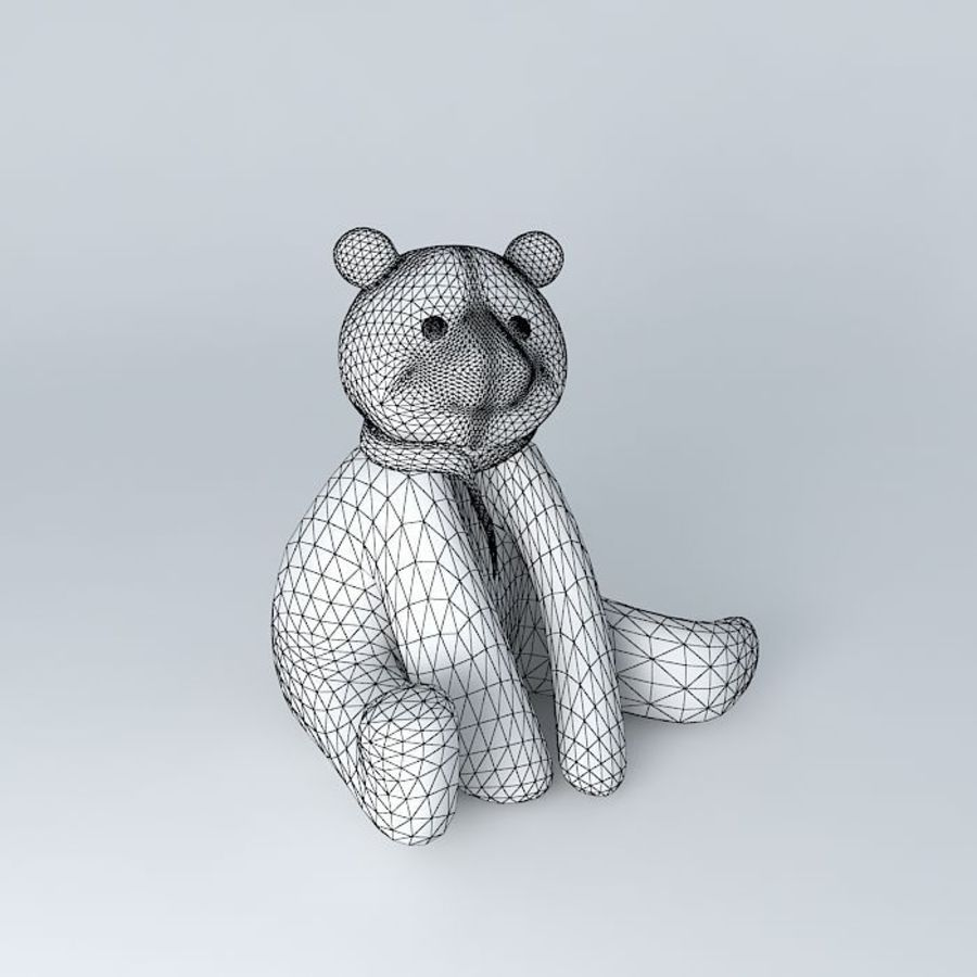 Knut polar bear royalty-free 3d model - Preview no. 4