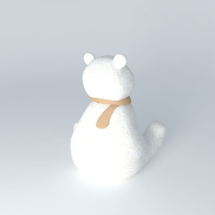Knut polar bear royalty-free 3d model - Preview no. 3