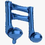 Balon foliowy Uwaga 1 niebieski 3d model