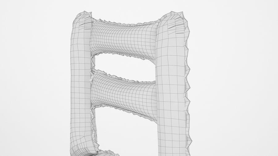 Balon foliowy Uwaga 1 złoty royalty-free 3d model - Preview no. 18