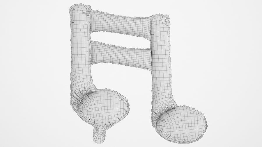Balon foliowy Uwaga 1 złoty royalty-free 3d model - Preview no. 6