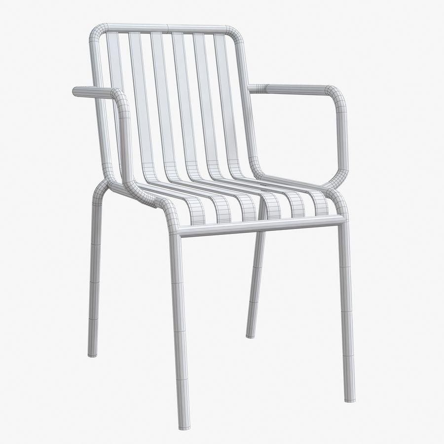 Niebieski metalowy fotel royalty-free 3d model - Preview no. 5