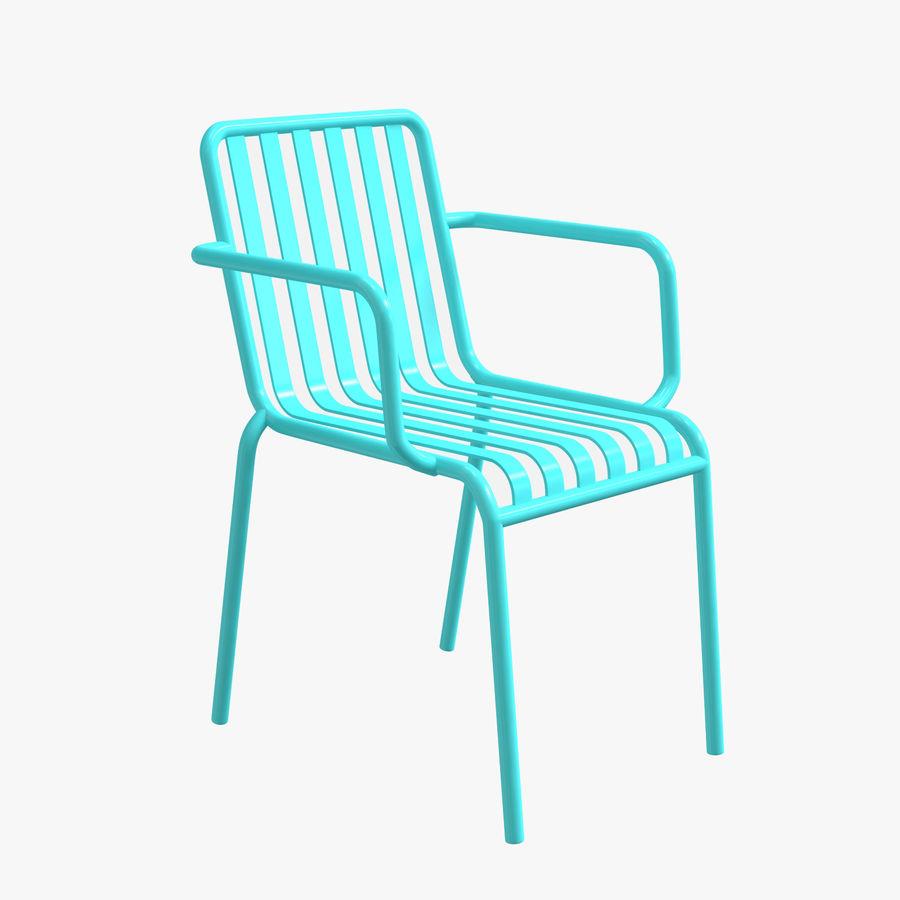 Niebieski metalowy fotel royalty-free 3d model - Preview no. 1