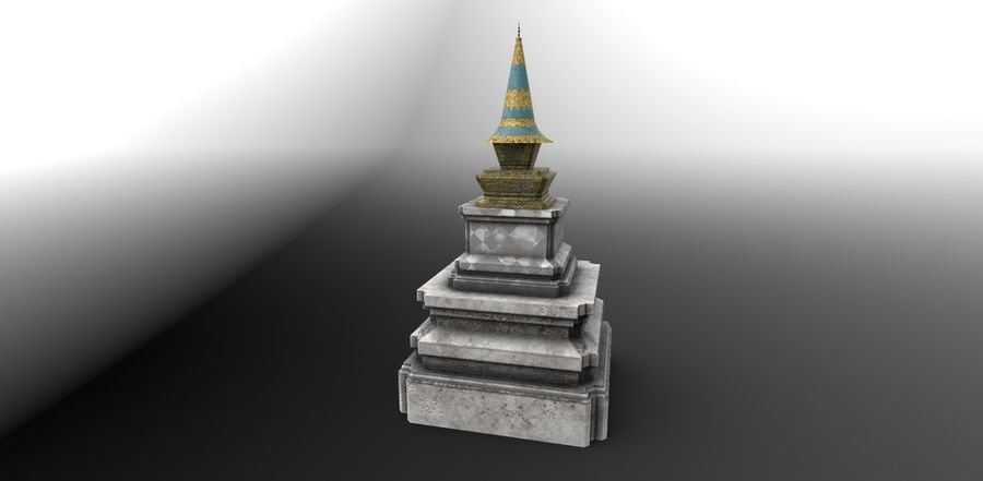 AsianSpire royalty-free 3d model - Preview no. 2