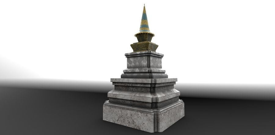 AsianSpire royalty-free 3d model - Preview no. 3