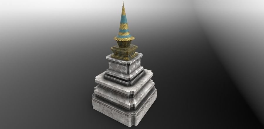 AsianSpire royalty-free 3d model - Preview no. 4