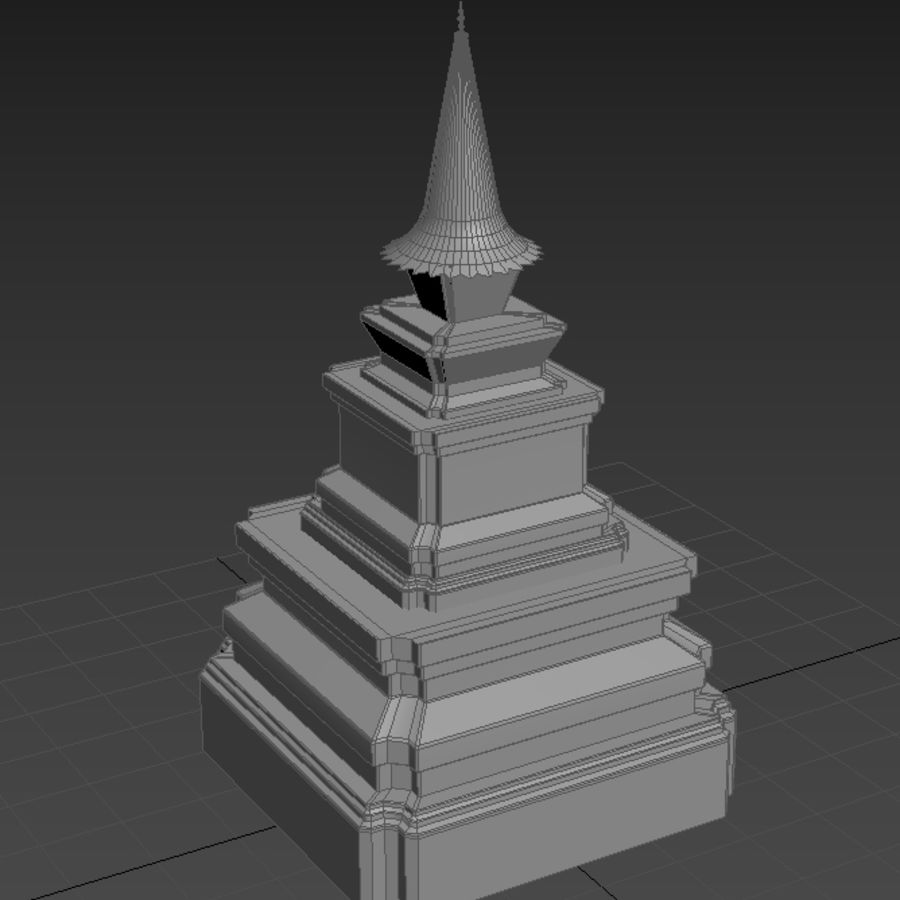 AsianSpire royalty-free 3d model - Preview no. 6