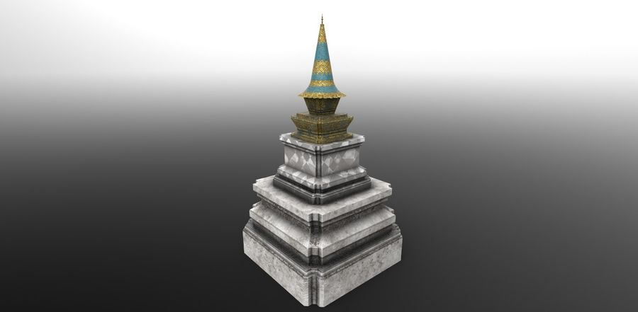 AsianSpire royalty-free 3d model - Preview no. 1