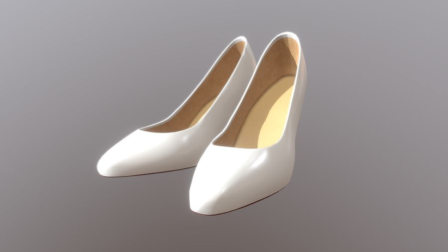 High Heel Shoes royalty-free 3d model - Preview no. 11