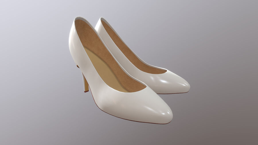 High Heel Shoes royalty-free 3d model - Preview no. 3