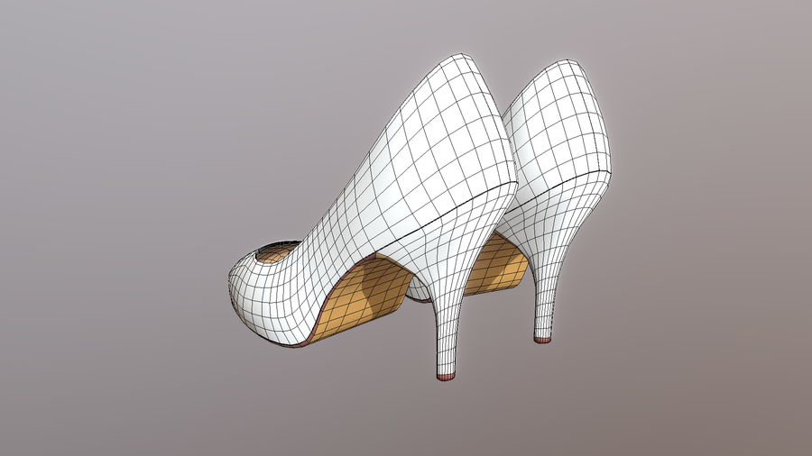 High Heel Shoes royalty-free 3d model - Preview no. 5