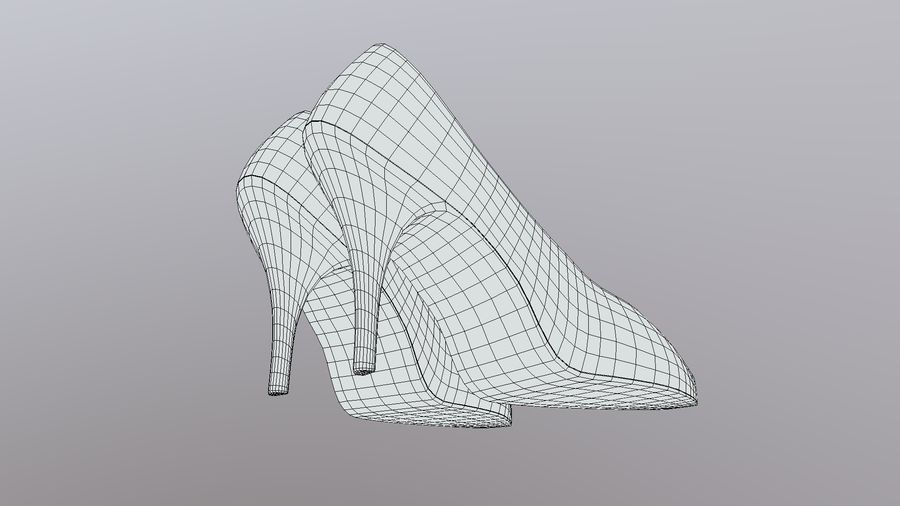 High Heel Shoes royalty-free 3d model - Preview no. 9