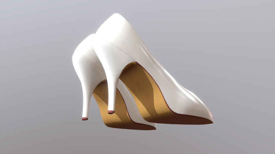 High Heel Shoes royalty-free 3d model - Preview no. 8