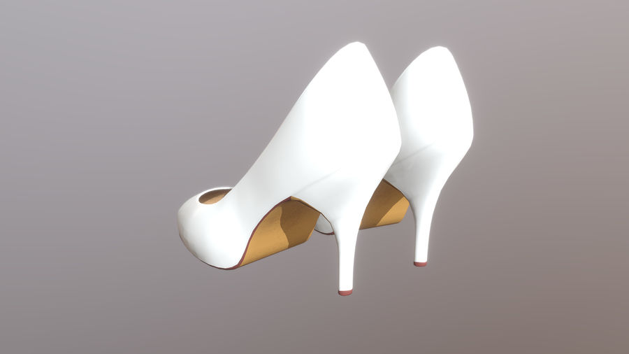 High Heel Shoes royalty-free 3d model - Preview no. 4