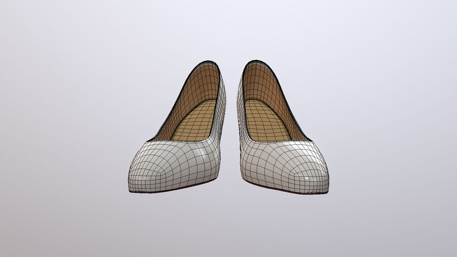 High Heel Shoes royalty-free 3d model - Preview no. 7