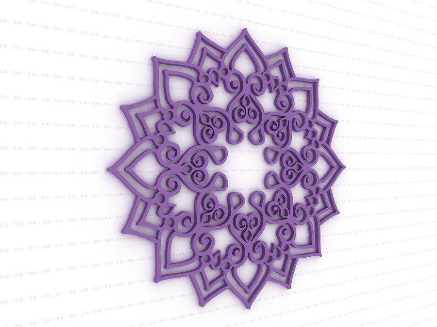 Mandala royalty-free 3d model - Preview no. 2