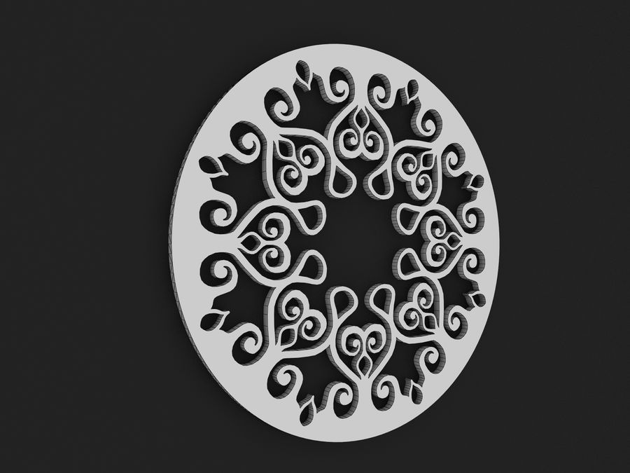 Mandala royalty-free 3d model - Preview no. 3