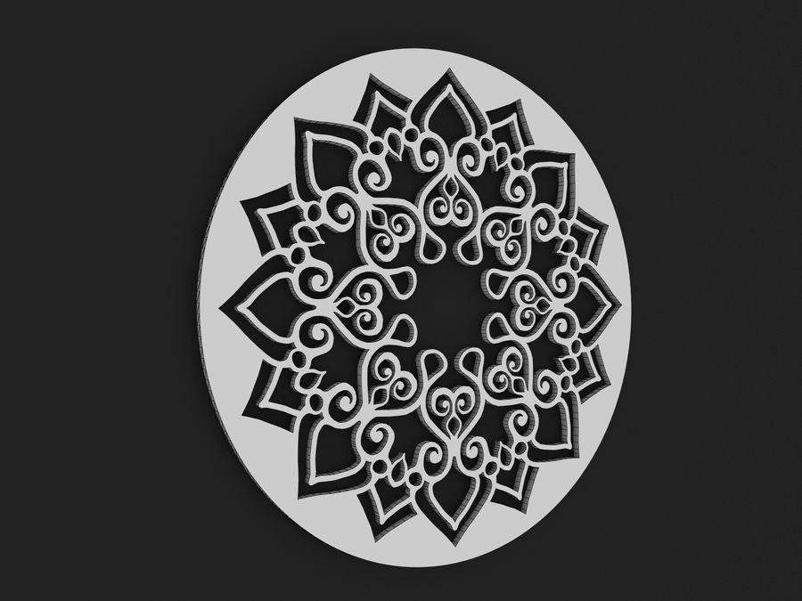 Mandala royalty-free 3d model - Preview no. 3