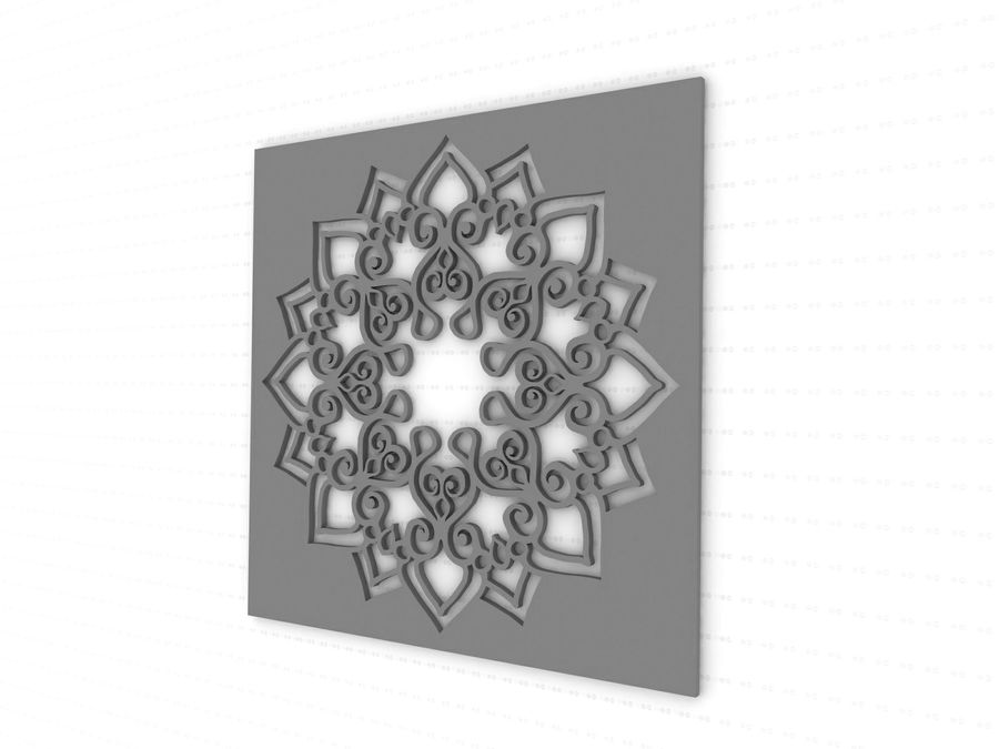 Mandala royalty-free 3d model - Preview no. 5