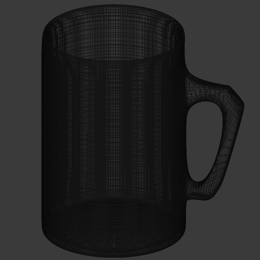 Simple Mug royalty-free 3d model - Preview no. 6