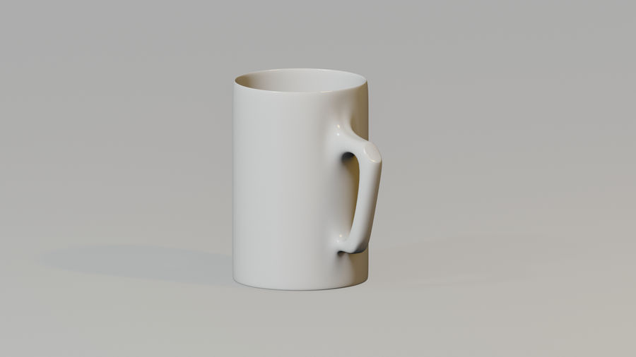 Simple Mug royalty-free 3d model - Preview no. 1